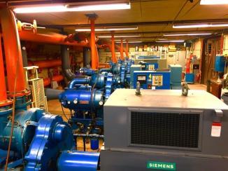 Compressor room.